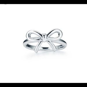 Authentic Tiffany and co bow ring